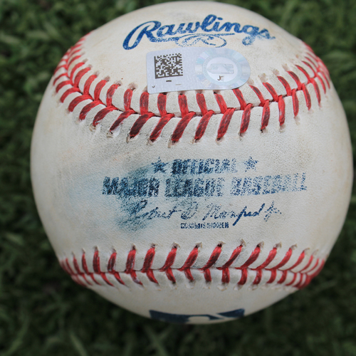 Photo of Game-Used Baseball: Ryan McBroom 10th Career Hit (HOU @ KC - 9/15/19)