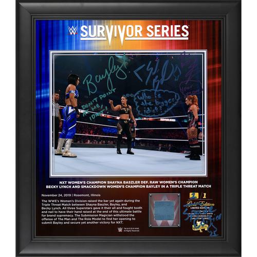 Bayley, Shayna Baszler and Becky Lynch SIGNED Custom Spade Edition Frame (1 of 1)