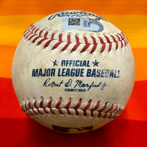 Game-Used Baseball 7/25/20 Astros Vs. Mariners: McCullers to Seager (Double)