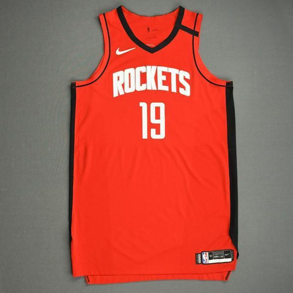 Image of Tyson Chandler - Houston Rockets - Game-Worn Icon Edition Jersey - Dressed, Did Not Play (DNP) - 2019-20 NBA Season Restart