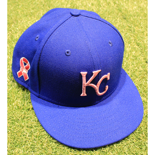 Photo of Game-Used 2021 Mother's Day Hat: Whit Merrifield #15 - Size 7 3/8