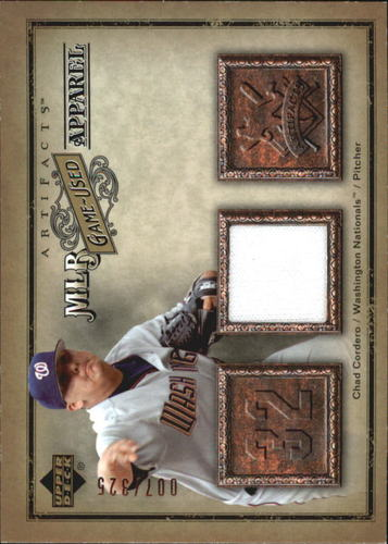 Photo of 2006 Artifacts MLB Game-Used Apparel #CD Chad Cordero Jsy/325