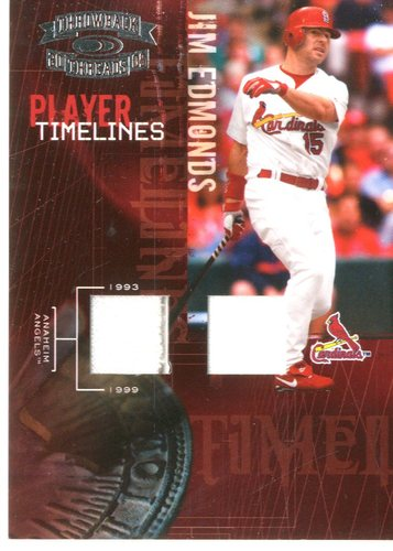 Photo of 2005 Throwback Threads Player Timelines Material #18 J.Edmonds Angel-Card/100