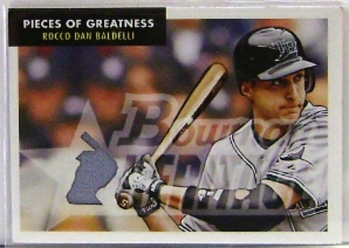 Photo of 2007 Bowman Heritage Pieces of Greatness #RB Rocco Baldelli Jsy F