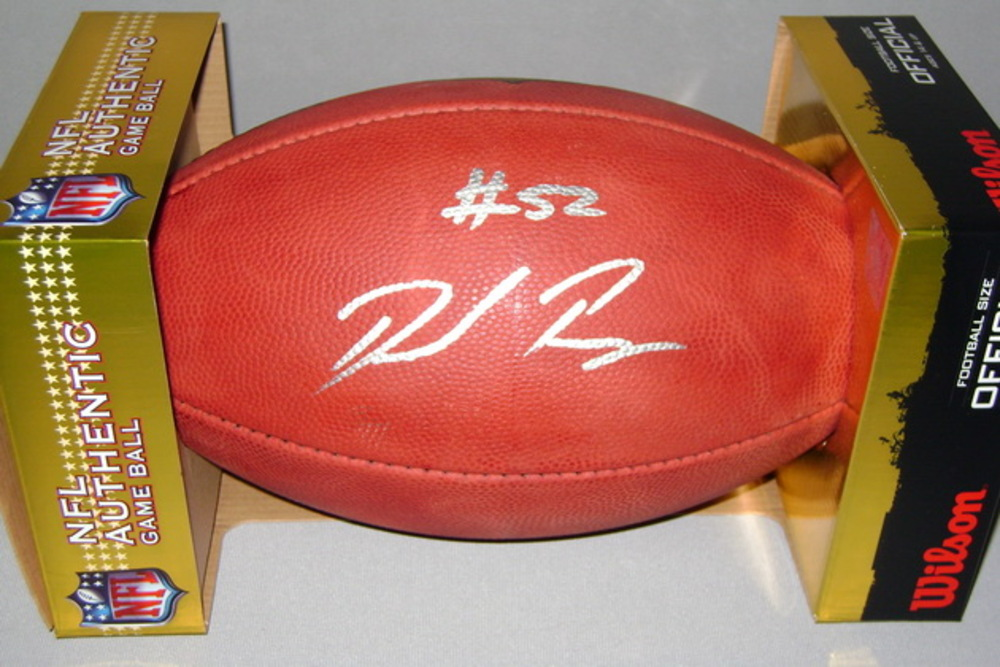 CHARGERS - DENZEL PERRYMAN SIGNED AUTHENTIC FOOTBALL