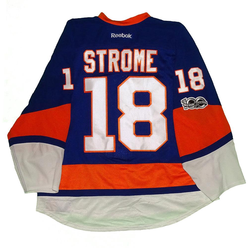 hot sale online d7c52 7ed7f Ryan Strome - Game Worn Home Jersey - 2016-17 Season - New ...