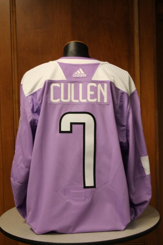 Matt Cullen Minnesota Wild 2017 Hockey Fights Cancer Night Warm-Up Jersey (Size 56)
