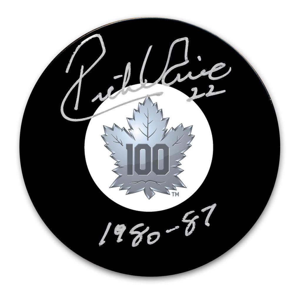 the best attitude 556e1 7088d Rick Vaive Toronto Maple Leafs 100th Anniversary Autographed ...