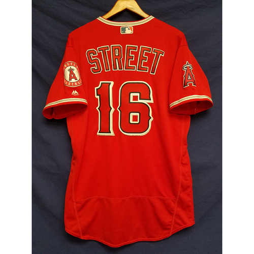 Photo of Huston Street Alternate Red Game-Used Jersey