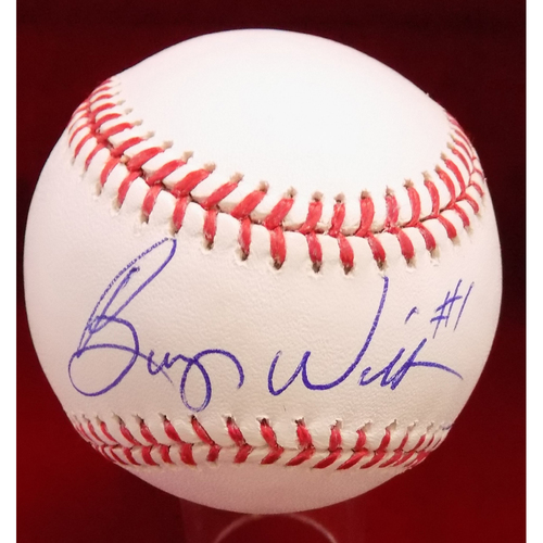 Photo of Bump Wills Autographed Baseball