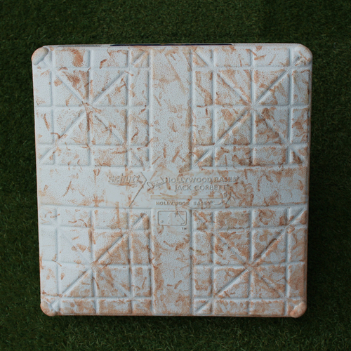 Game-Used 2nd Base: Mookie Betts' 100th Career Home Run and Chris Sale's 100th Career Win (Innings 1-5 - BOS @ KC - 7/6/18)