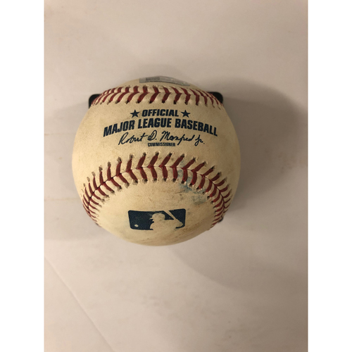 Dansby Swanson Game Used Hit Double Baseball - 4/28/2019