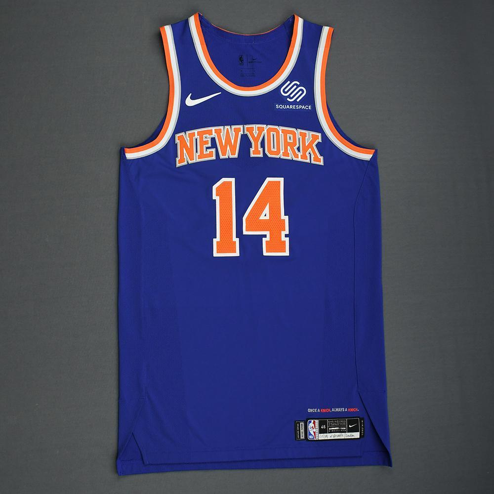 Allonzo Trier - New York Knicks - 2018-19 Season - London Games - Game-Worn 1st Half Blue Icon Edition Jersey