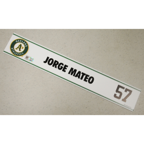 Photo of Jorge Mateo Spring Training Locker Nameplate