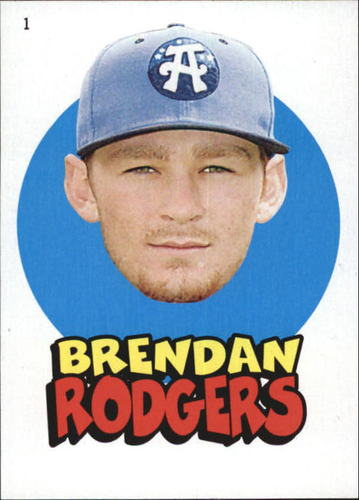 Photo of 2016 Topps Heritage Minors '67 Topps Stickers #1 Brendan Rodgers