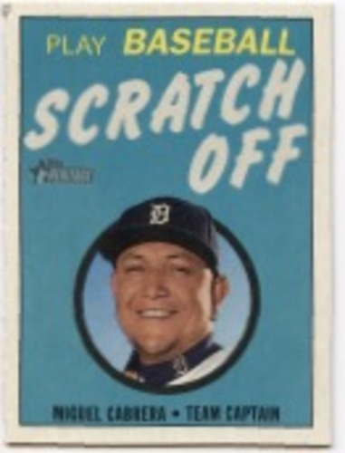 Photo of 2019 Topps Heritage '70 Topps Scratch Offs #27 Miguel Cabrera