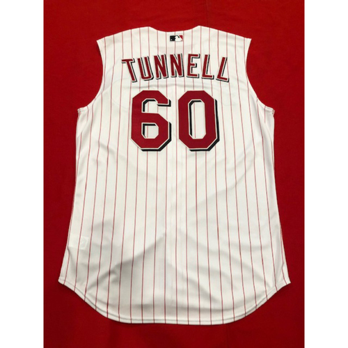 Photo of Lee Tunnell -- Game-Used 1999 Throwback Jersey -- Mets vs. Reds on Sept. 22, 2019 -- Jersey Size 46
