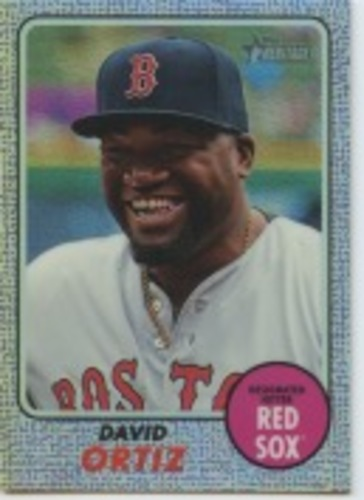 Photo of 2017 Topps Heritage Chrome Purple Refractors #THC412 David Ortiz