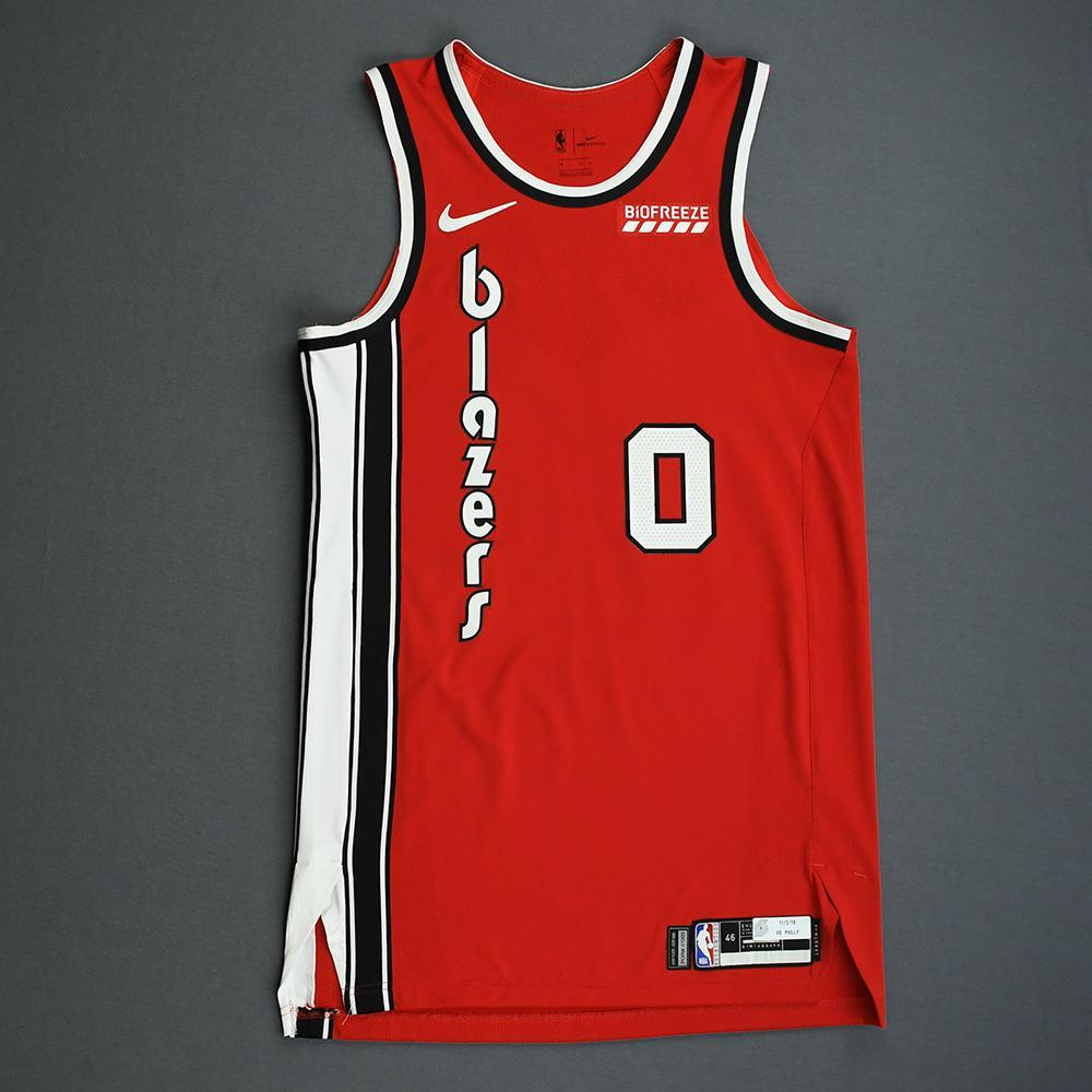 Damian Lillard - Portland Trail Blazers - Game-Worn Classic Edition 1975-77 Road Jersey - Scored Game-High 33 Points - 2019-20 NBA Season