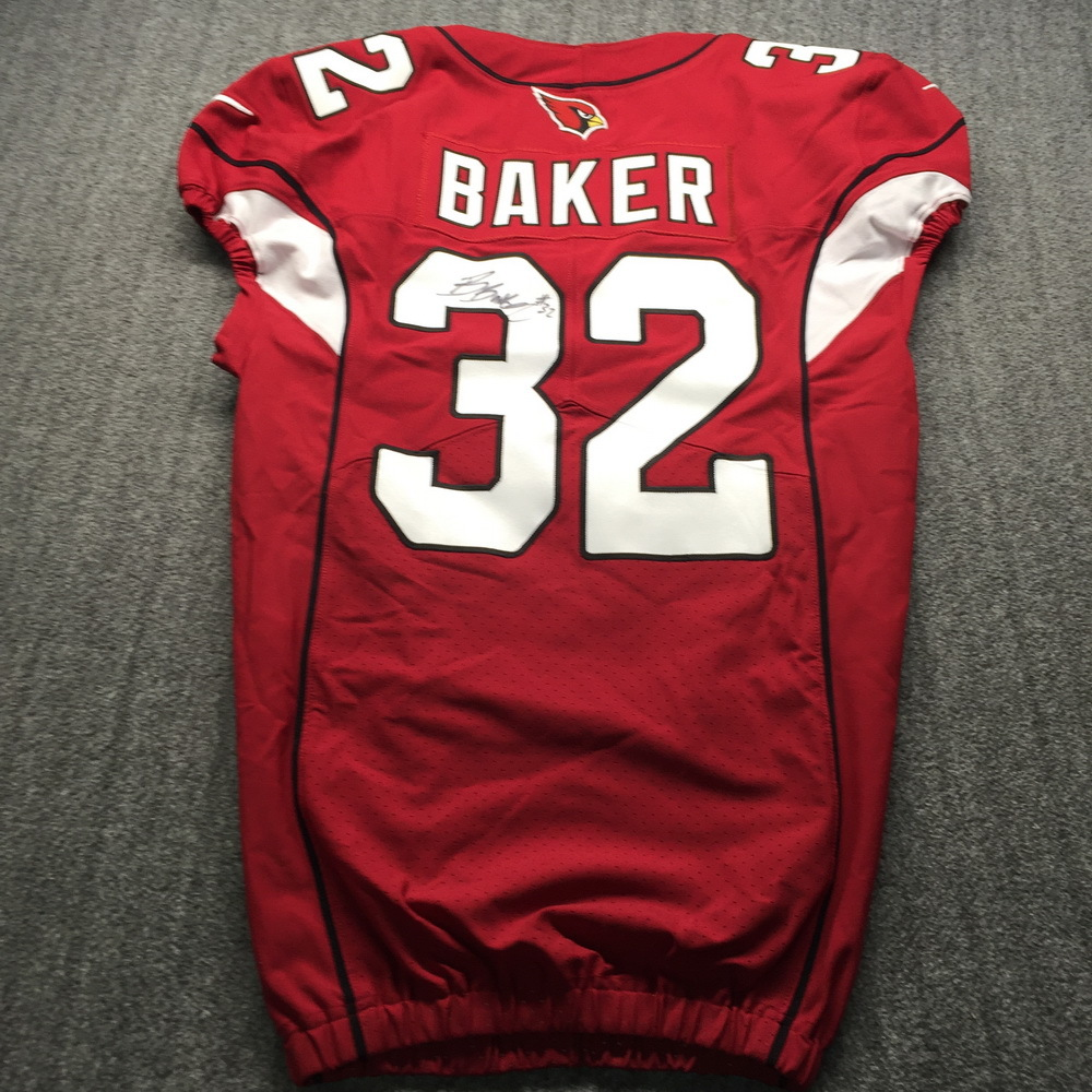 STS - Cardinals Budda Baker Signed Game Issued Jersey Size 38