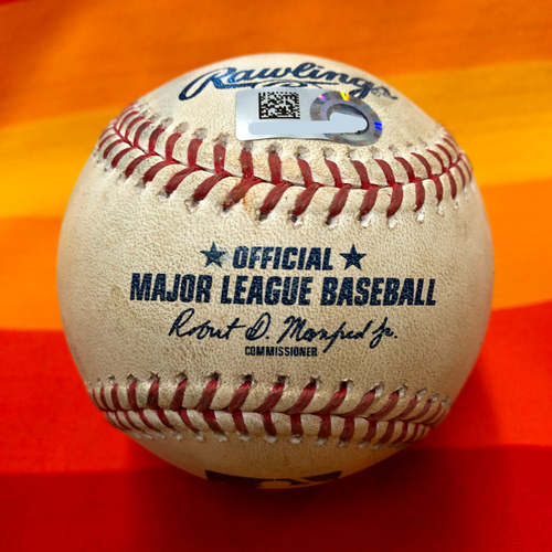 Game-Used Baseball 7/25/20 Astros Vs. Mariners: McCullers to Vogelbach (Walk)