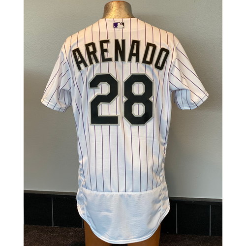 Photo of Colorado Rockies Team-Issued 2020 Home Opener Jersey: Nolan Arenado