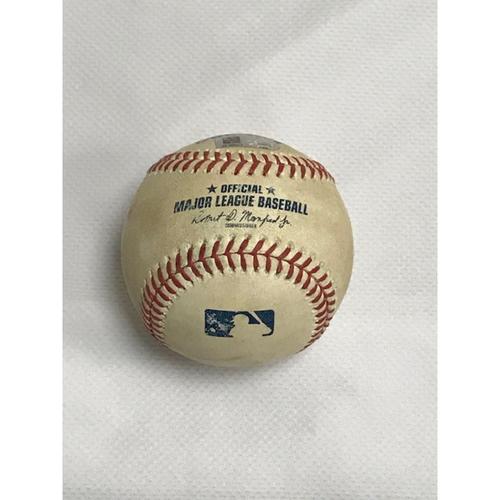 GRAND SLAM Game-Used Baseball, 8/26/20 Rockies at Diamondbacks: Charlie Blackmon Hits a Grand Slam Off of Riley Smith in the Top of the 8th Inning, Scored Drew Butera, Garrett Hampson and Nolan Arenado.