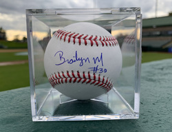 Photo of Chicago Cubs Autographed Brailyn Marquez Baseball