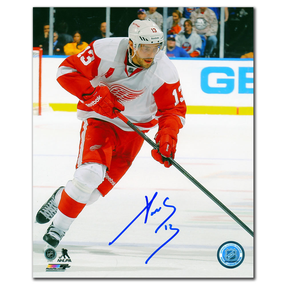 Pavel Datsyuk Detroit Red Wings RUSH Autographed 8x10