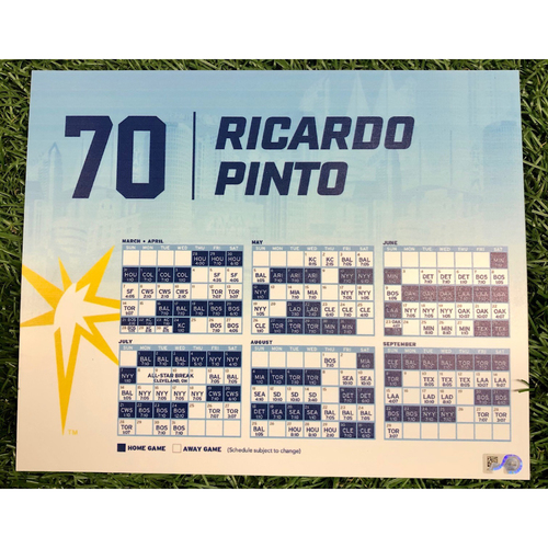 Photo of Rays Baseball Foundation: Team Issued Locker Tag: Ricardo Pinto - 2019 Season