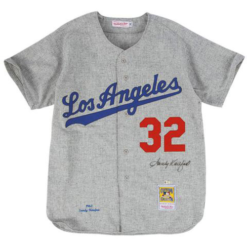 Photo of Sandy Koufax Autographed Dodgers Mitchell & Ness Jersey