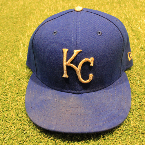 Photo of Game-Used 2020 Gold Hat: Maikel Franco #7 (Size 7 3/8 - DET @ KC 9/25/20)