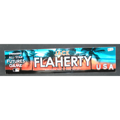 Photo of 2017 Futures Game  - Game-Used Locker Name Plate - Jack Flaherty - 7/92017