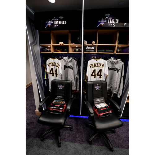 Photo of 2021 All-Star Game Clubhouse Chair Panel from Adam Frazier's Locker Chair