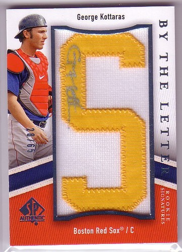 Photo of 2009 SP Authentic By The Letter Rookie Signatures #GK George Kottaras/715 */Letters spell SP Authent