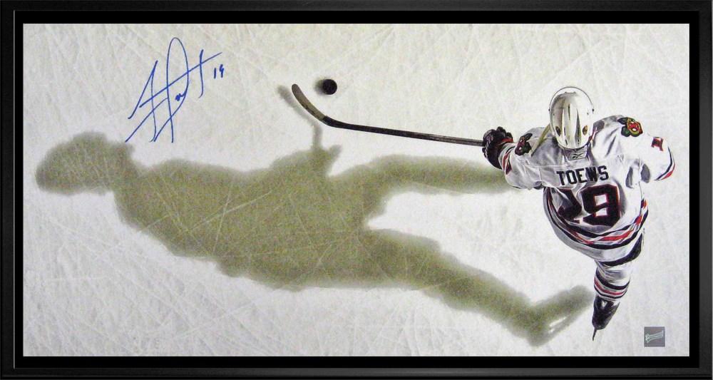 Jonathan Toews - Signed & Framed 14x28\