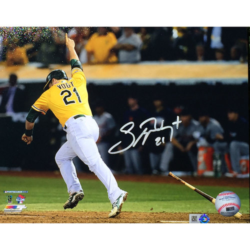 "Photo of Stephen Vogt ""2013 ALDS Walk-Off"" Autographed Photo"