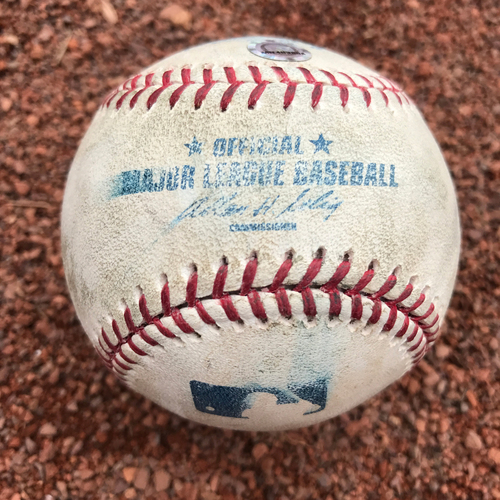 Photo of San Francisco Giants - Game-Used Baseball from Barry Bonds 698 Homerun Game