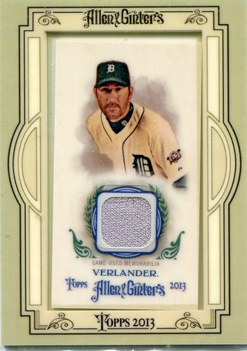 Photo of 2013 Topps Allen and Ginter Framed Mini Relic Justin Verlander