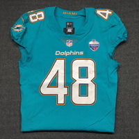 SPORT RELIEF - DOLPHINS MARQUEIS GRAY GAME WORN DOLPHINS JERSEY W/ LONDON GAMES PATCH (OCTOBER 1, 2017) SIZE 40