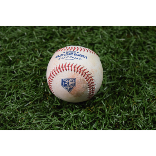 Photo of 20th Anniversary Game Used Baseball - April 20, 2018 - Mallex Smith Single off Lance Lynn