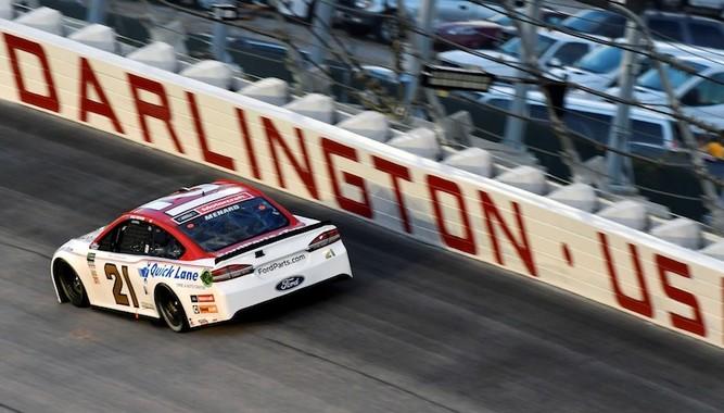 NASCAR PHOTO WITH THE CHAMPION DRIVER AT DARLINGTON RACEWAY
