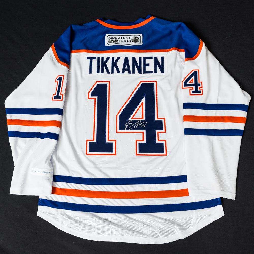 huge discount ccd18 0daa8 Esa Tikkanen #14 - Autographed 1984-85 Edmonton Oilers NHL ...