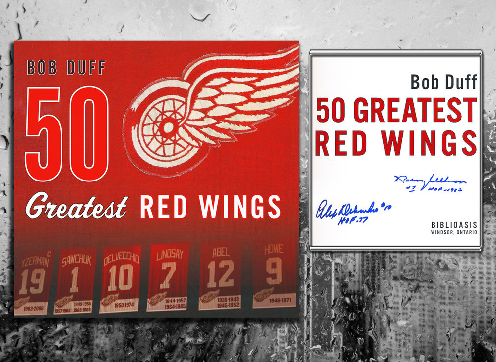 50 GREATEST RED WINGS Signed Hardcover Book