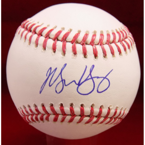 Photo of Michael Young Autographed Baseball