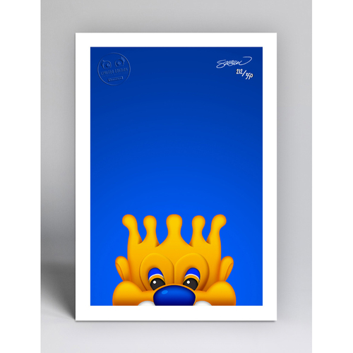 Photo of Sluggerrr - Limited Edition Minimalist Mascot Art Print by S. Preston  - Kansas City Royals