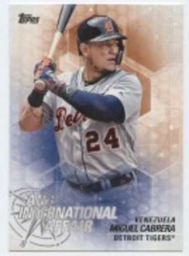 Photo of 2018 Topps Update An International Affair #IA48 Miguel Cabrera