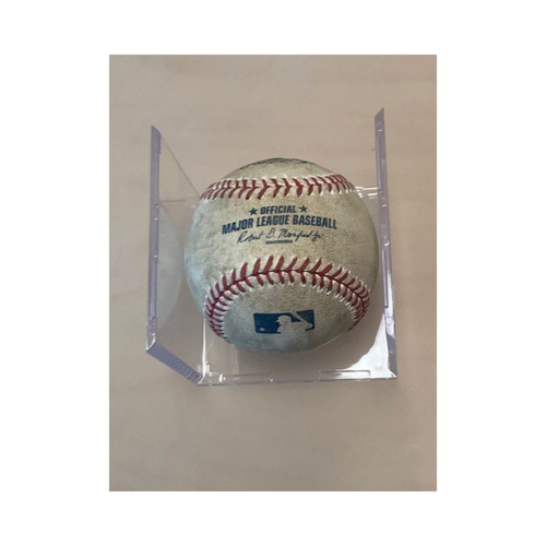 Photo of Game-Used Baseball: Justin Verlander's 1 Hitter Game- Miguel Cabrera Pitched in Dirt