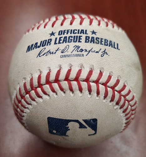 Photo of Authenticated Game Used Baseball - Aaron Sanchez strikes out Marwin Gonzalez (May 7, 2019 vs MIN). Top 4.