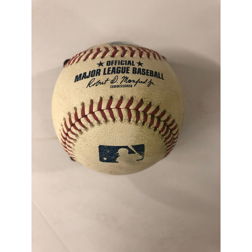 Freddie Freeman Game Used Hit Double RBI Baseball - 4/16/2019